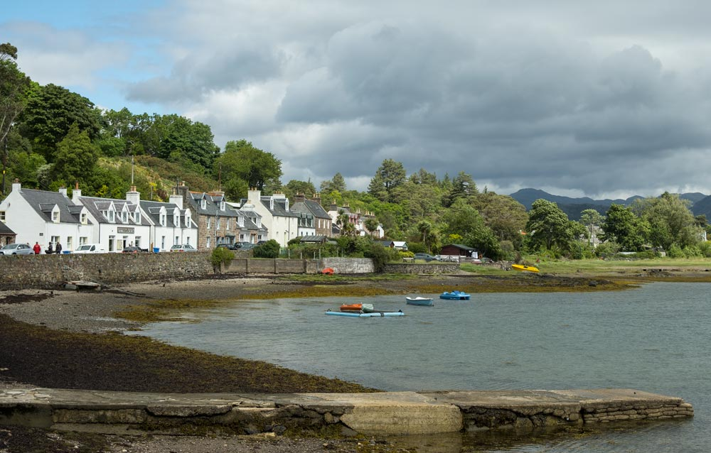 houses lining a scenic harbour