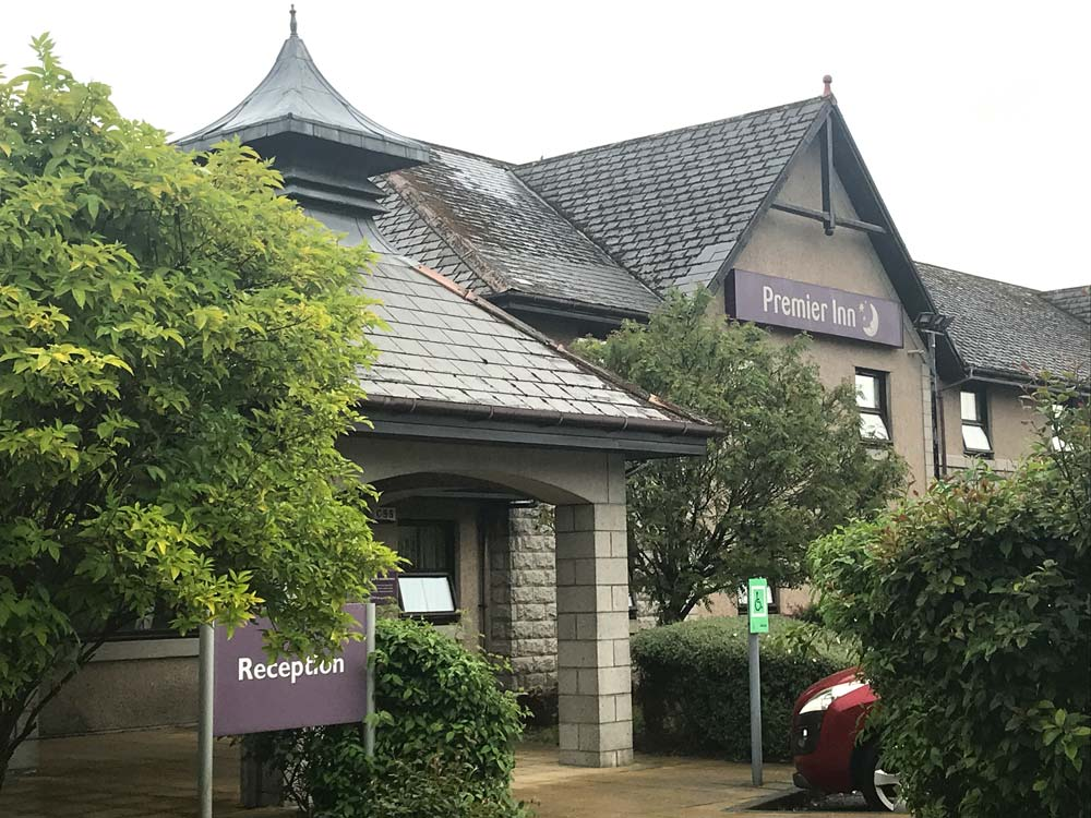 exterior of premier inn fort william which may be the best cheap hotel in fort william