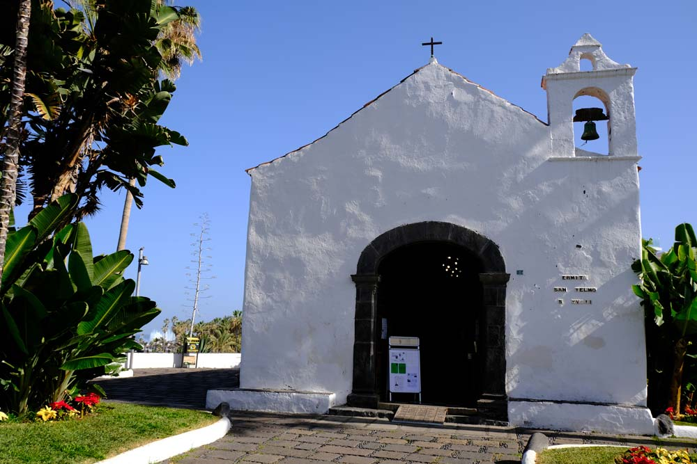whitewashed chapel with small bell tower