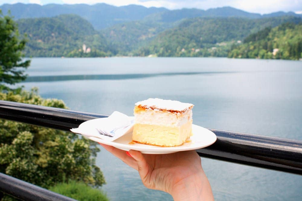 a piece of creamy cake is one of the best reasons to visit lake bled