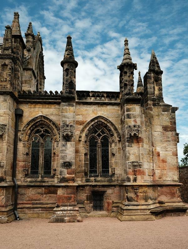 exterior of gothic chapel