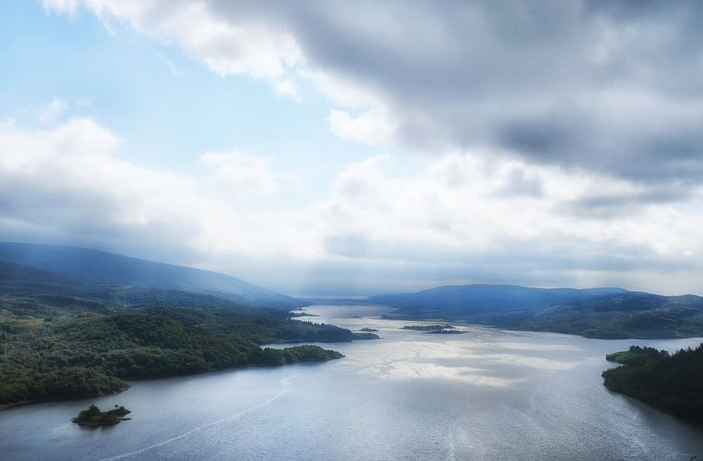 expansive view of loch and mountains