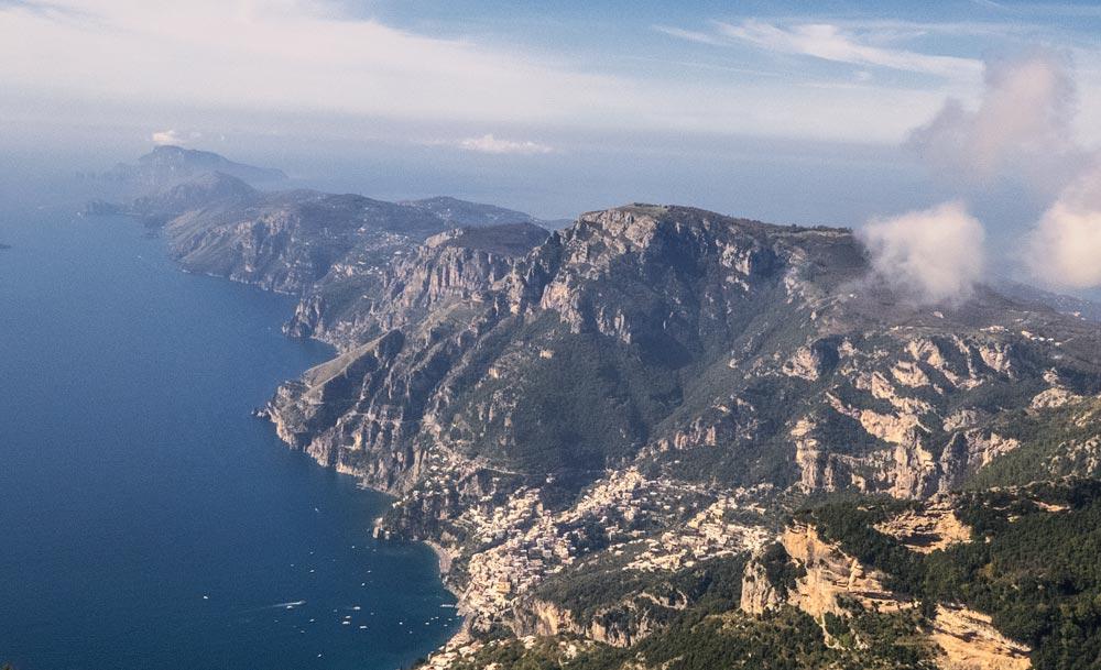 cliff-edged shoreline in mediterranean