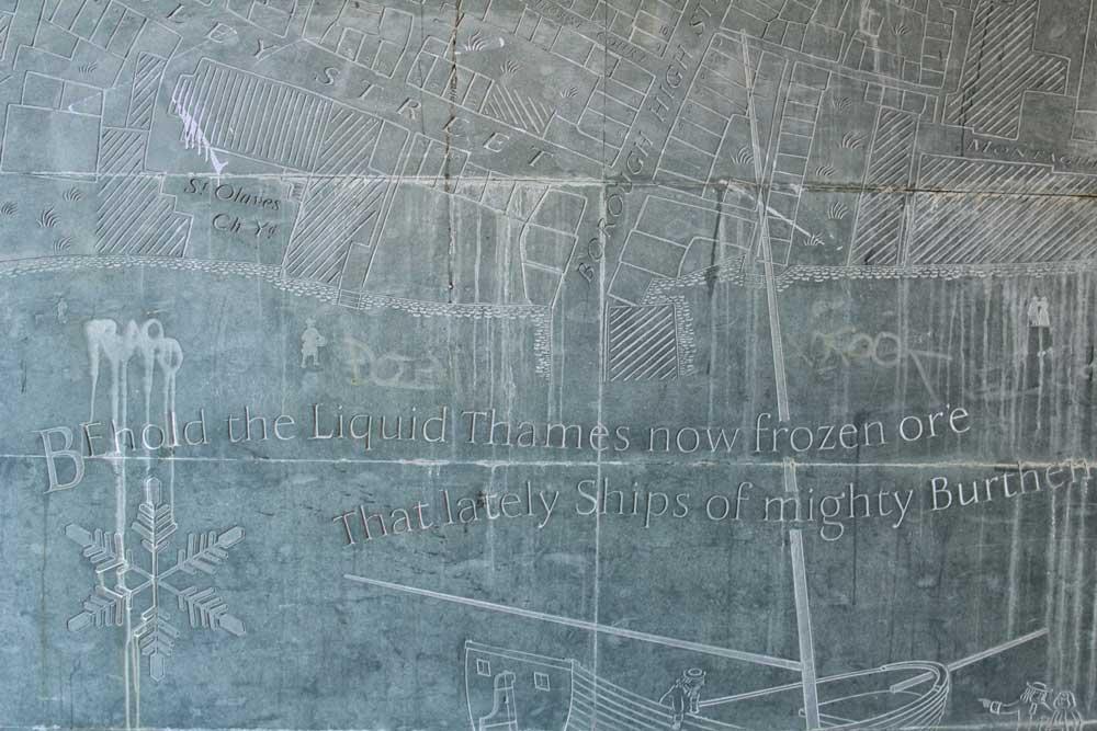mural carved on granite slab